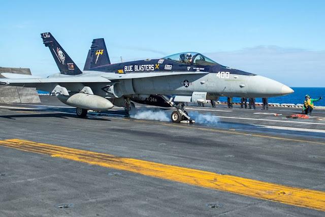 Navy Hornet last cruise aircraft carrier