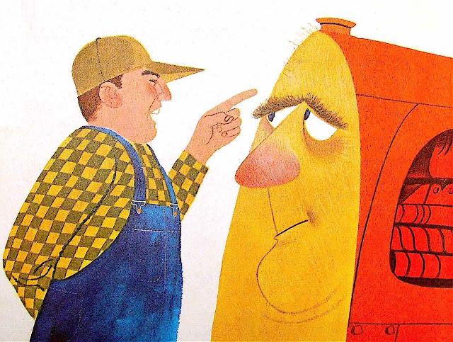 from an Art Seiden children's book, a farmer and his tractor
