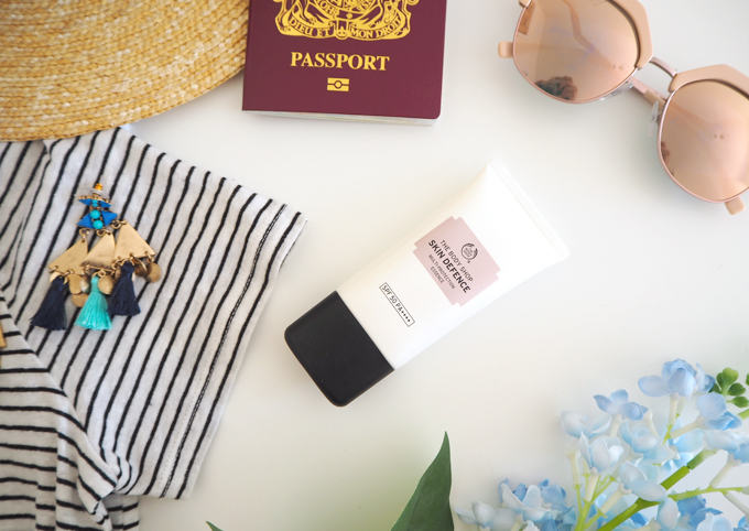 Travel My Holiday Essentials and Summer Accessories Skin Defence spf 50 from the Body Shop