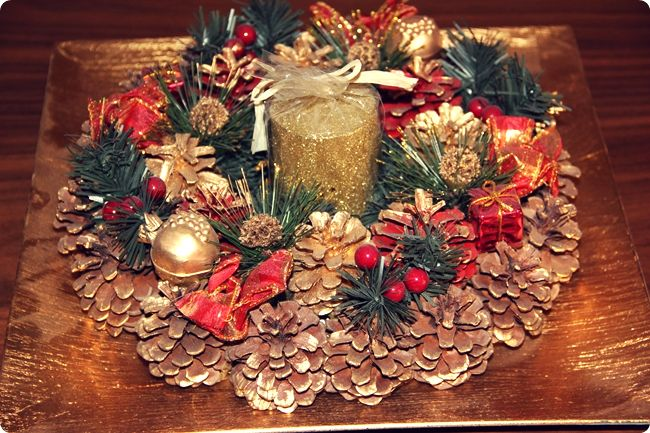 gold home Christmas decoration