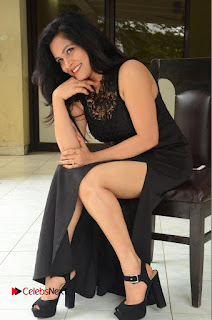 Actress Revathi Chowdary  Pictures in Black Long Dress at Kakateeyudu Movie Press Meet  0162.JPG