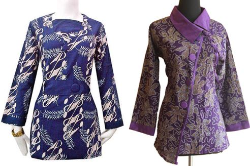10 Model Baju Batik Guru 2019 Modis Terbaru