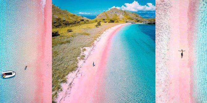 Tengok Keindahan Pantai Merah Muda di Timur Indonesia, Begitu Mempesona!