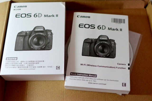 Canon EOS 6D Mark II 開箱及規格