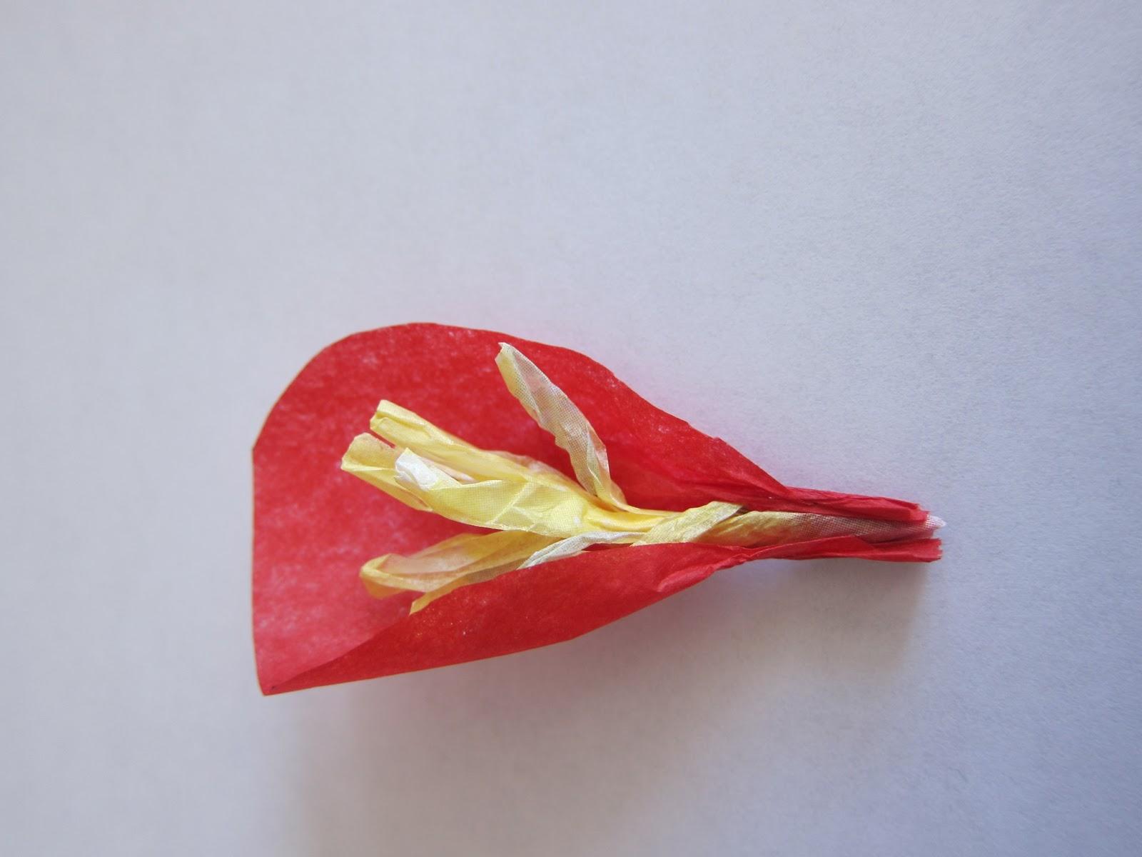 Tissue Paper Flower Gift Wrapping Tutorial Brushnpaper