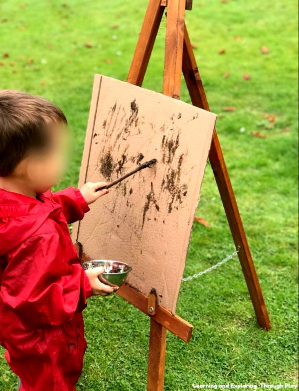 Outdoor Mark Making Easels - Kerris Childminding