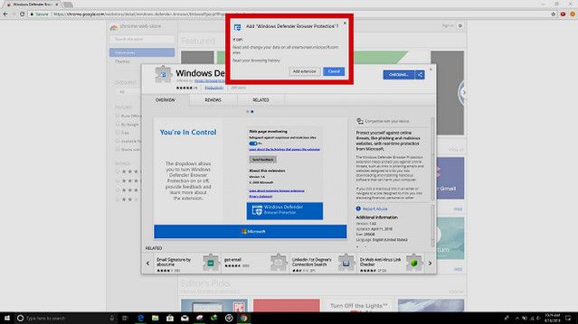 مايكروسوفت تطلق اضافة الحماية ويندوز ديفندر لمتصفح جوجل كروم