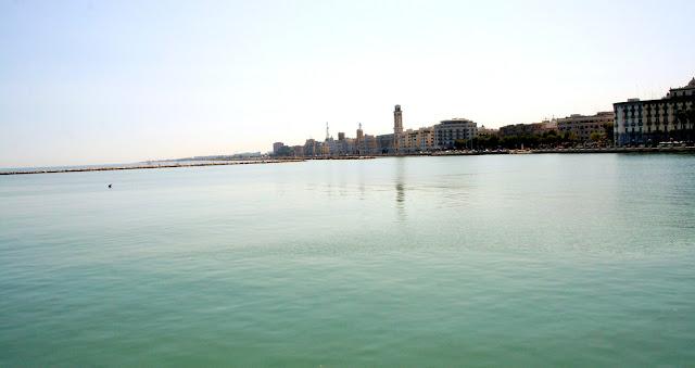 mare, acqua, Bari, città, sole