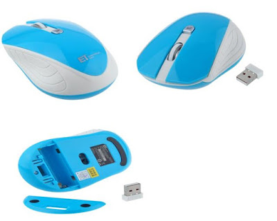 Splaks 2.4Ghz Wireless Optical Mouse (blue)