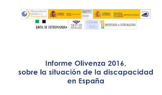 Informe Olivenza 2016, sobre la situación de la discapacidad
