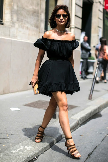 off the shoulder trend, cold shoulders, off the shoulder silhouette, off the shoulder top, off the shoulder bohemian, off the shoulder ruffled top, off the shoulder dress, off the shoulder knit, biggest spring trend 2016, street style