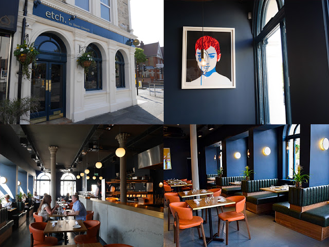 Interior and exterior of Etch restaurant Brighton