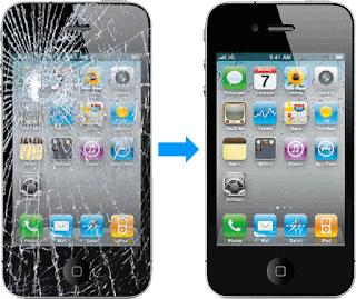 iphone 4 sau khi thay mới kính