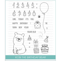 Studio Katia KOBI THE BIRTHDAY BEAR Stamps