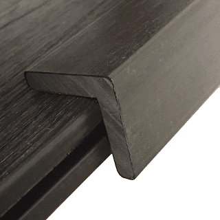 walnut angle edging