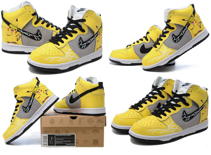 pretty nice 6b45c 1bf8f Product Name  Nike Dunk High Top Pikachu Pokemon Yellow Realead Year 2011.  Model  Dunks Shoes, Nike Dunks Custom