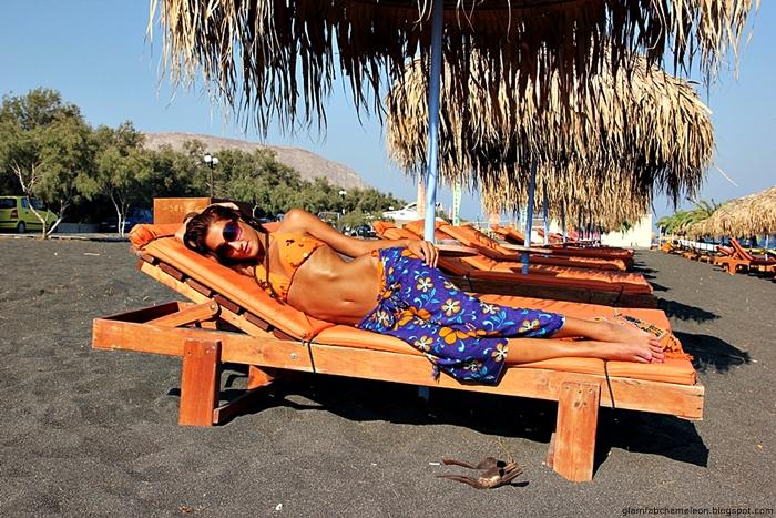 how to style orange bikini for summer and beach