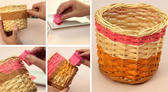 cestos coloridos, cesto de palha, cestos de vime, faça você mesmo, diy, decoração, decor, home decor, straw basket, revisteiro de palha