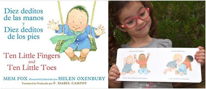 los mejores cuentos y libros infantiles en inglés 10 little fingers ten little toes