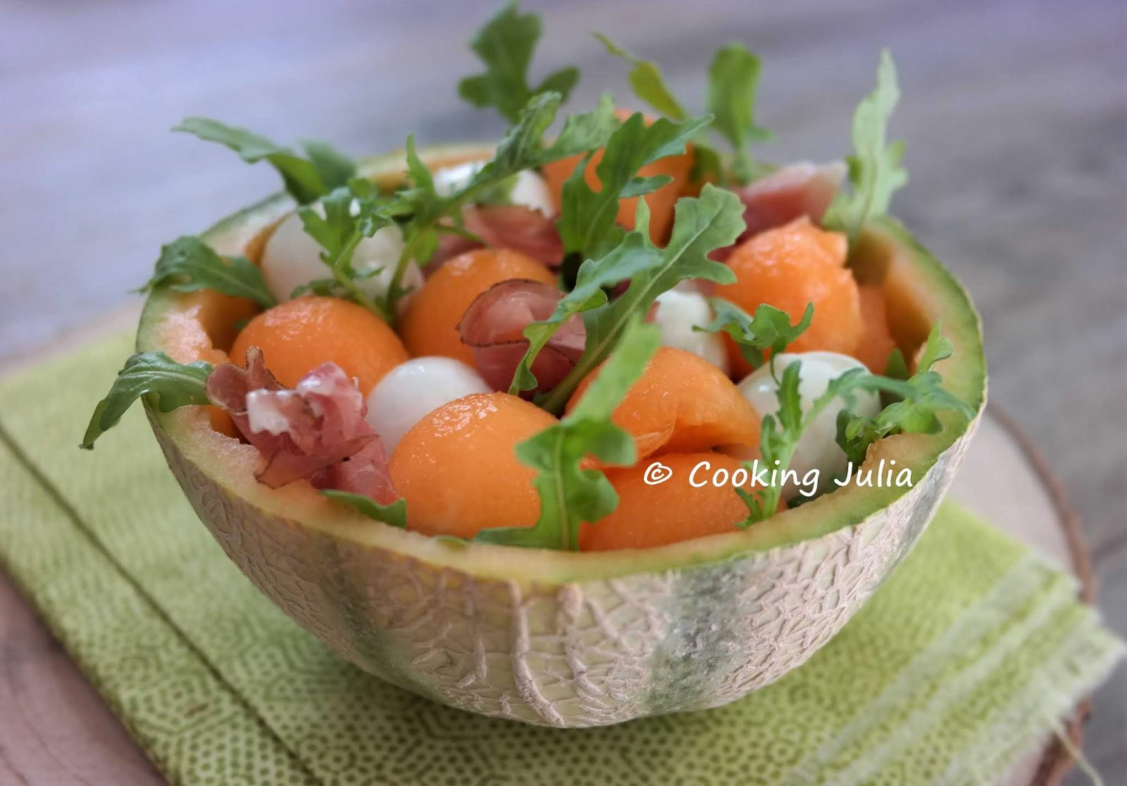 Cooking Julia Melon Garni A L Italienne