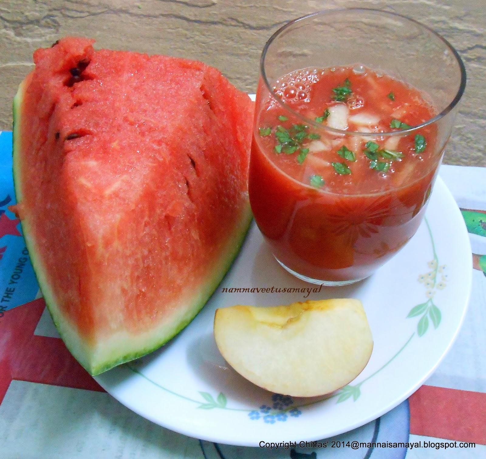 Watermelon orange juice