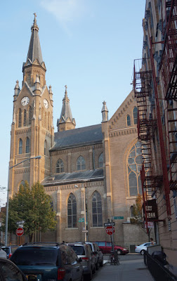 View of north side of St. Stanislaus Kostka Church from Diamond Street