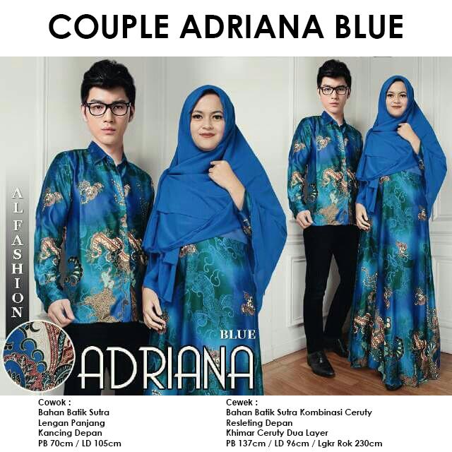 Gamis Couple CP Adriana Blue Batik Sutra Original By Al Fashion - pusat baju  muslim couple murah langsung konveksi by butik aira sidoarjo pusat grosir  ... dd93c381fc