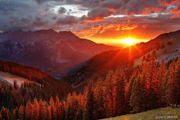 Natural Sunset in Mountain and Clouds, Can You Imagine?