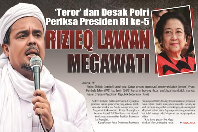 FPI Tantang Keberanian Polisi Periksa Megawati