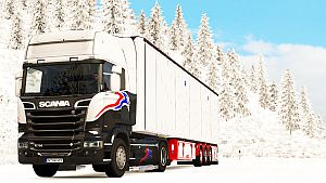 Red Chereau Bodex standalone trailer