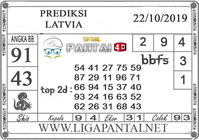 """PREDIKSI TOGEL """"LATVIA"""" PANTAI4D 22 OKTOBER 2019"""