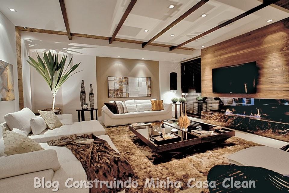 Minha Casa Clean Home Theater! 20 Projetos de Salas de TV Modernas
