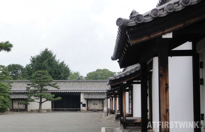 Nijo castle Kyoto Japan food buildings