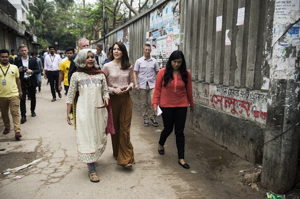 Crown Princess Mary of Denmark visited Bangladesh together with Minister for Development Cooperation, Ulla Pedersen Tørnæs