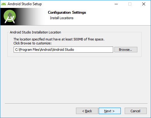 3. android studio installation