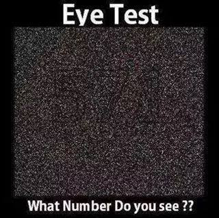 Hidden Number Optical Illusion