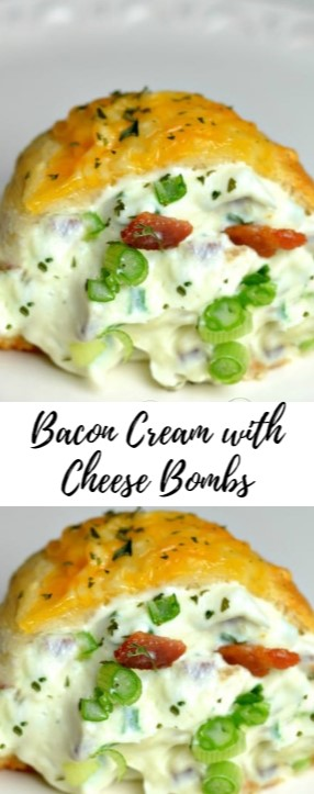 Bacon Cream with Cheese Bombs