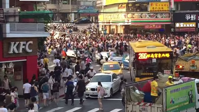 Photo of the reportedly Pokemon Go Zombie Riot in Taipei Taiwan