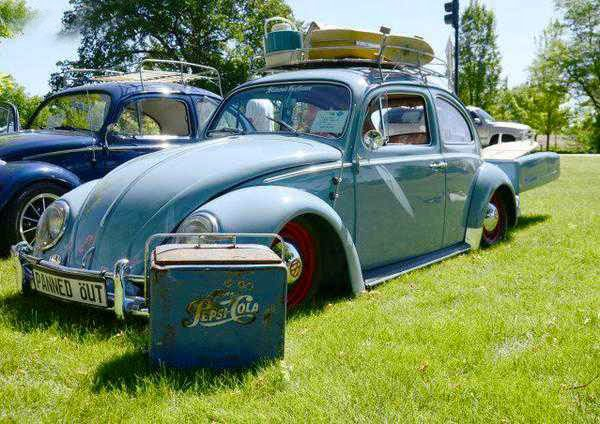 1960 vw beetle with single wheel trailer buy classic volks