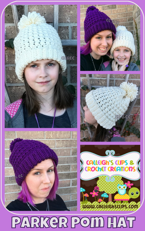 Calleigh s Clips   Crochet Creations  Parker Pom Hat   Free Crochet ... a79a2f224a1