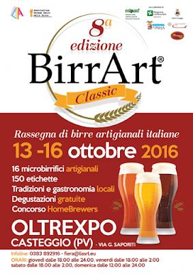 BirrArt dal 13 al 16 ottobre Casteggio 2016