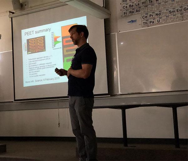 Professor Chris Regan, UCLA, at CSULB Physics Colloquium (Source: Palmia Observatory)