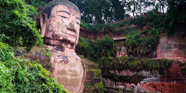 Leshan Patung Buddha Raksasa China Dibuka Untuk Publik