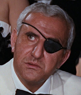 Adolfo Celi in his most famous role as the villain Emilio Largo in the 1965 Bond film Thunderball