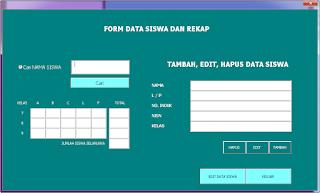 menu cari siswa - formulir tambah dan edit data siswa