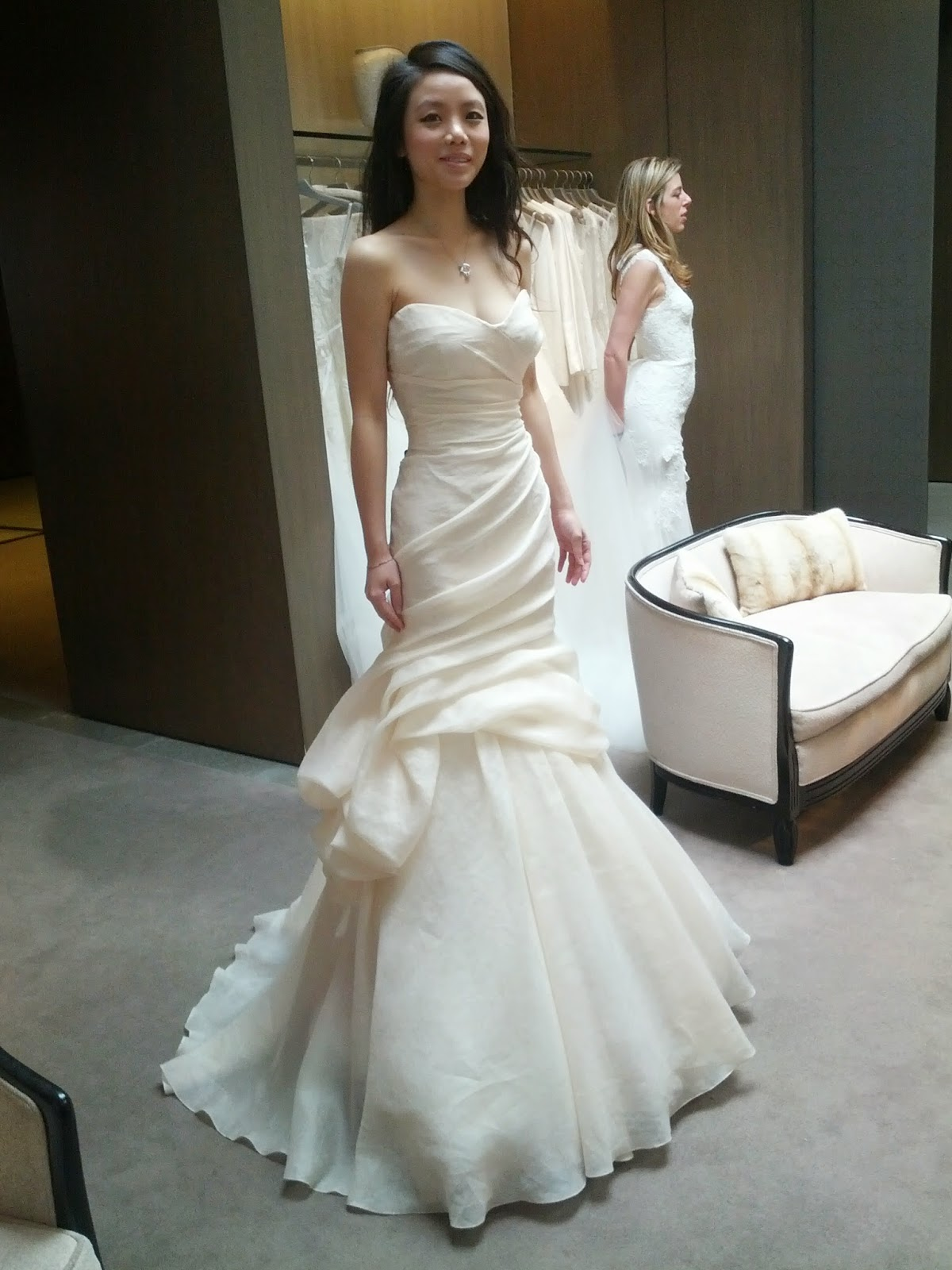 Monique Lhuillier Peony Wedding Dress Front View Pee