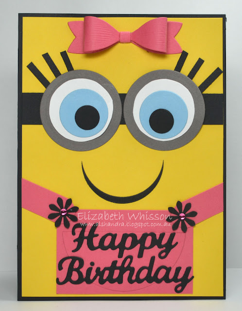 Elizabeth Whisson, Alshandra, no stamping, minions, happy birthday, no stamping