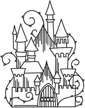 Tranh cho bé tô màu lâu đài 6