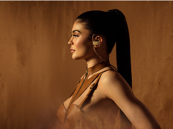 Kylie Jenner is the face of the Balmain x Beats by Dr.Dre Campaign