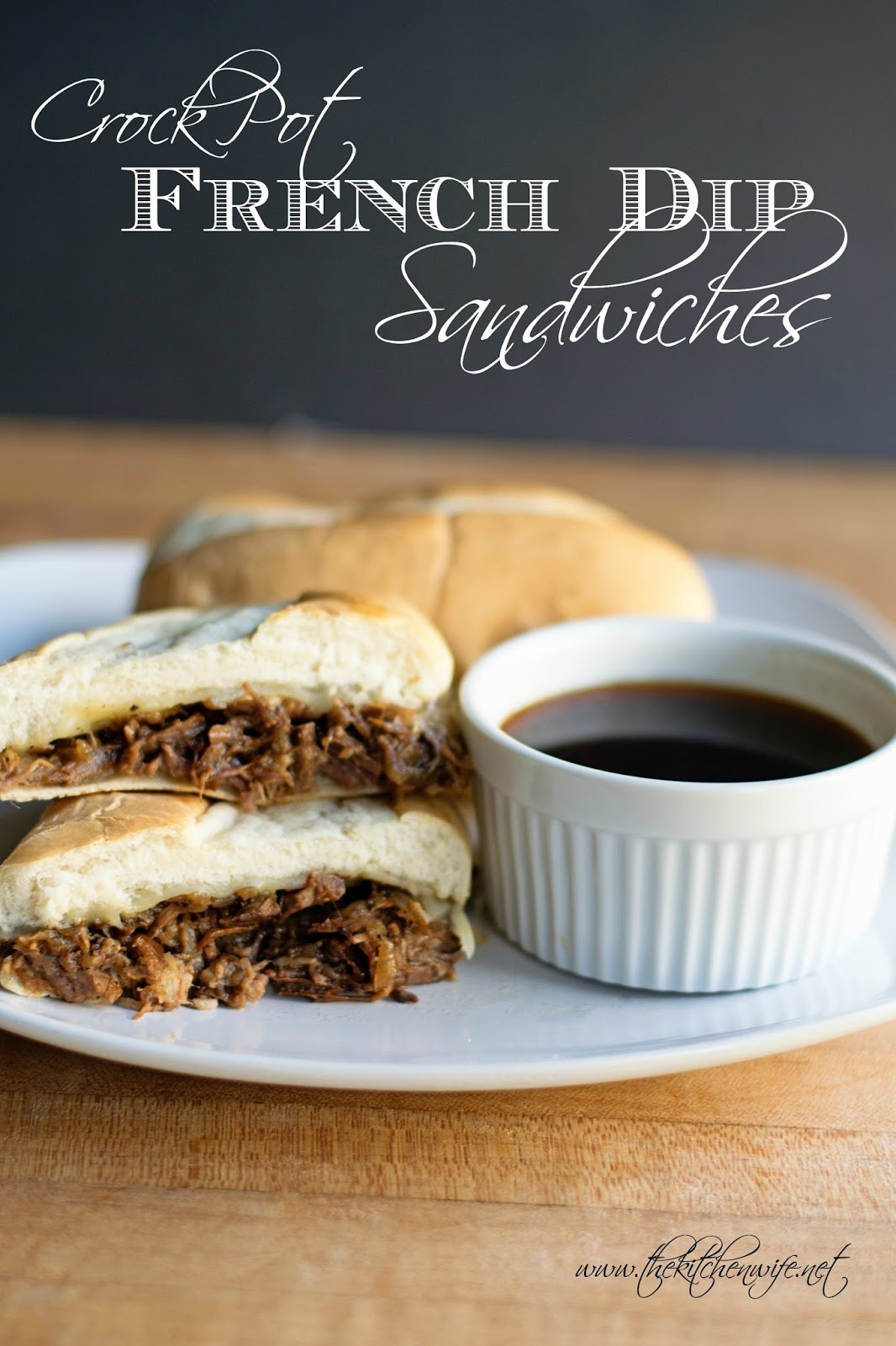 """Slow Cooker French Dip Sandwich Recipe Video What is a French Dip Sandwich? The classic French Dip Sandwich is a hot sandwich boasting tender thin slices of beef layered on a long French roll, often with melted cheese, then dipped in a flavorful sauce made from the pan juices called """"au jus,"""" French for """"with broth"""" or """"with juice.""""Reviews:"""